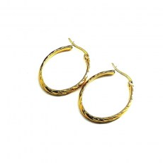 hoops-oval-gold